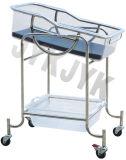 Amortiguación de aire con resorte que inclina la cuna del hospital para el bebé
