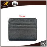 Support par la carte de crédit mince de pièce de monnaie de cuir véritable de mollet avec le bouton (HJ8101)