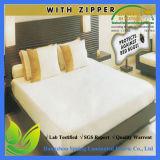 Encasement impermeable del colchón de la superficie superior de Terry con la cremallera