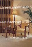 De bevallige Reeks van het Meubilair van de Slaapkamer van het Hotel van de Stijl Houten (emt-D0651)