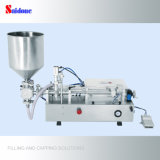 Máquina de enchimento vertical semiautomática, líquido, petróleo, máquina de enchimento de engarrafamento de creme