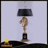 Europäische Messingpferden-Tisch-Beleuchtung (KA20318-2VBN)