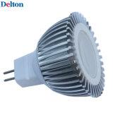 3W Dimmable silbernes Punkt-Licht des Weiß-MR16 LED (DT-SD-015A)