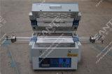 Four de frittage de tube électronique fendu avec deux zones de chauffage et deux contrôleurs