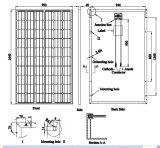 Качество панели PV высокой эффективности Mono солнечное (250W-280W) немецкое