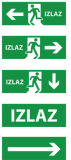 Выходите знак, аварийное освещение, знак аварийного выхода СИД, свет выхода, знак выхода СИД