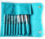 Щетки состава зеленого цвета логоса 9 частей изготовленный на заказ с мешком PU кожаный