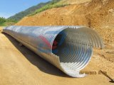 Tubo d'acciaio ondulato galvanizzato rotondo del canale sotterraneo del grande diametro