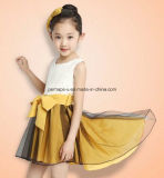 Sweet Kids Flower Girls Dress Robe en dentelle Bowknot Children Wear