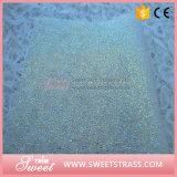 Folha de cristal 24X40cm da resina clara da safira Ferro-no engranzamento do Rhinestone