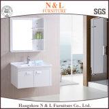 Vanité en plastique de Module de salle de bains de meubles de PVC de modèle moderne (B-8020)