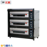 호화스러운 전기 3 3개의 갑판 빵집 피자 오븐 가격 (ZMC-312D)