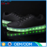 Material luminoso especial, zapatos cómodos del LED de los jueces de línea, zapatos de Adule