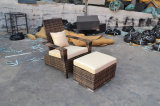 柳細工の屋外の庭のテラスの家具セット