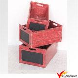 スタック可能ハンドメイド型木製プランターボックス植木鉢2カラー