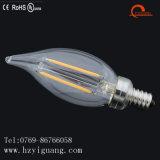 Bulbo energy-saving do diodo emissor de luz da vela da cauda para a luz de teto