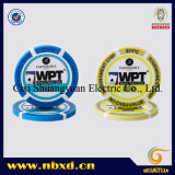 14G 3-Tone Wegepunkt Injection Clay Poker Chip mit Custom Stickers (SY-E31)
