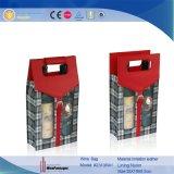 Boîte faite sur commande à vin de quantité élevée avec PVC clair Windows