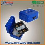 Beweglicher Metallgeld-Kasten mit Code-Verschluss