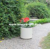 Fo-183 Cylinder Fiberglass Flower Pot para o jardim de Home