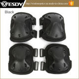 Wholesaletactical Military Outdoor Sport Knee & Elbow Pads Black