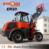 Technik-Maschinerie 2 Tonnen-Rad-Ladevorrichtung (ROPS/FOPS, CER, EPA)