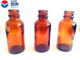 Großhandels30ml Amber Boston Round Glass Bottle