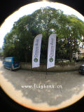 bandierina laterale di alluminio di volo di stampa di Digitahi di mostra di 4.5m doppia/bandierina della piuma