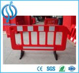 Rode/Gele Tijdelijke Draagbare Plastic Barrière voor Verkeersveiligheid