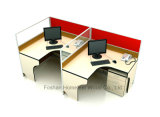 Station de travail de bureau moderne en aluminium pour 2 personnes (HF-YZ031)