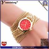 Yxl-774 montres de courroie de montre de Madame Fashionable Chains Leather Wrap longues