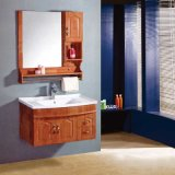 Alta qualidade Wall Mounted Wood Bathroom Cabinet com Side Cabinet