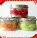 Vela perfumada única perfumada del regalo de la soja con la cinta
