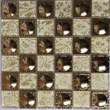 Mosaico da telha do mosaico do cristal & do aço inoxidável (FYMF8025)