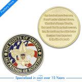 Oro barato de encargo/fabricante de la moneda de plata (JN-E05)