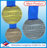 Médaille courante de souvenir de mode de course en bronze antique olympique de médailles