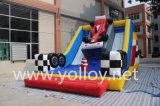 Doble cara inflable, diapositiva inflable interactiva, juegos inflables de los deportes