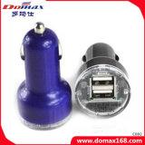 Mobiler Handy Doppel-USB-Energien-Adapter-einziehbare Auto-Aufladeeinheit