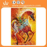 多彩なHorse Pattern Mosaic Art Decoration (10k367)