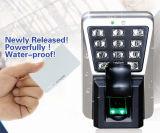 Leitor de cartão de MIFARE e dispositivo impermeáveis do controle de acesso da impressão digital (MA500/MF)