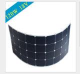 Горячее сбывание для гибкой панели солнечных батарей 120W с TUV