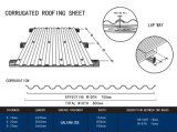 Material para techos acanalado galvanizado/azulejos de azotea acanalados galvanizados