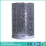 Sitio de ducha simple del diseño moderno con el vidrio impreso (LTS-816)