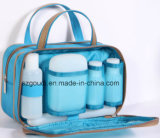 Mesh Travel Toiletry Wash Cosmetic Bag du mâle avec Bottles et Jars