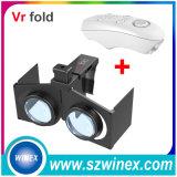 Vidros dobrados dobra de Vr da realidade virtual do cartão de Gamepad + de Vr Google