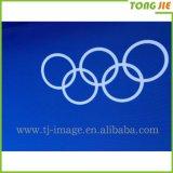 L'azienda della Cina rende a disegno Frontlit riflettente in linea bandiera lucida della flessione