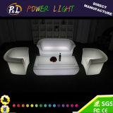 Meubles matériels de groupe de sofa d'éclairage du PE à télécommande DEL
