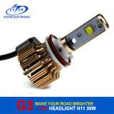 jogo 6000k do farol do diodo emissor de luz do carro do diodo emissor de luz do CREE de 30W 3000lm H11 auto
