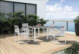 Круглый стол и стул сада мебели ротанга