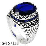 Silber 925 zwei Farben, die Mann-Ring mit natürlichem Achat überziehen